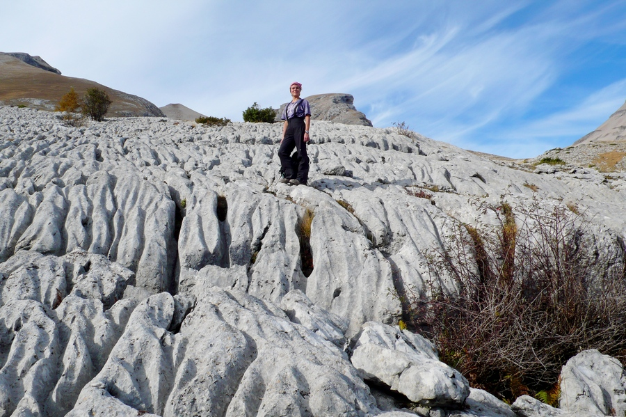 randonnée géologique Dévoluy chourum lapiaz karst accompagnateur montagne