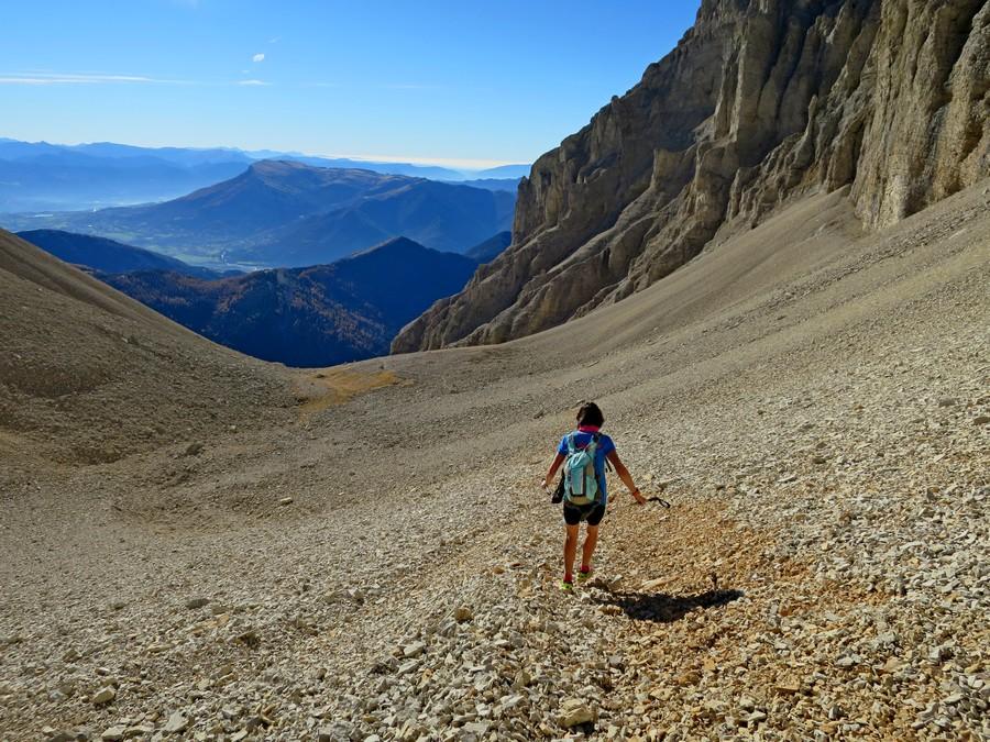 randonnée sportive Dévoluy Pic de Bure accompagnateur montagne