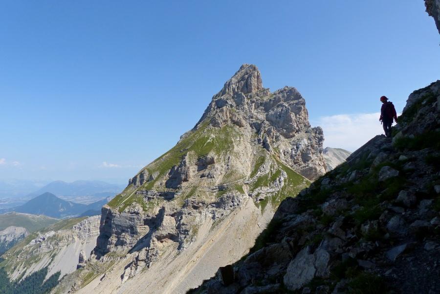 Randonnée vertige Dévoluy Garnesier accompagnateur montagne nature