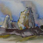 aquarelle fitz roy hurtaj patagonie