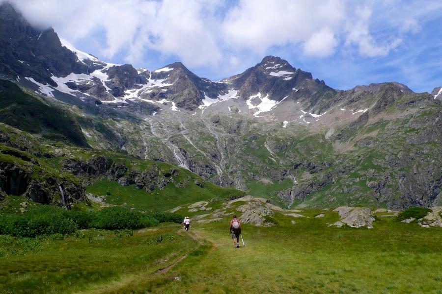 séjour randonnée géologique Valgaudemar Ecrins cirque glaciaire Gioberney lac de Lauzon montagne
