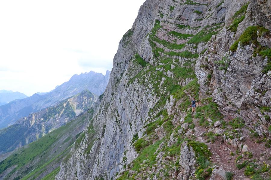 randonnée vertige Dévoluy ruban long accompagnateur montagne nature