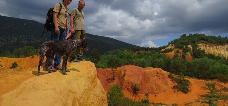 Découverte géologique du Colorado provençal à Rustrel