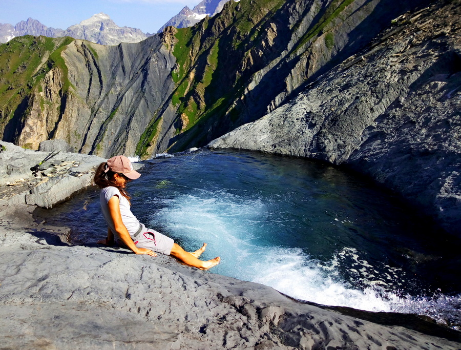 randonnée Valgaudemar Hautes-Alpes Ecrins Gioberney cascade Buffe